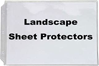 Landscape Sheet Protectors, for Standard Size Paper, 10 In a Set, Crystal Clear, Heavy Duty, Horizontal Format.