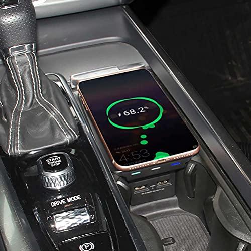 Cargador de teléfono de carga inalámbrico QI para coche de 10 W para Volvo XC90 XC60 S90 V90 V60 C60 2018 2019 placa de carga