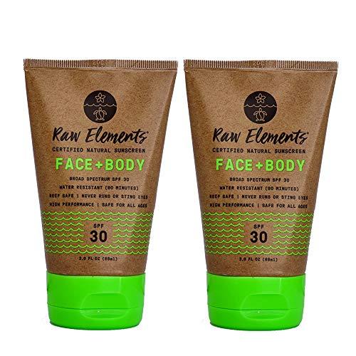 Amazon.com : Raw Elements Organic SPF 30 Zinc Sunscreen, 3oz (2-Pack) : Beauty