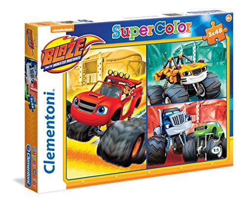 Clementoni 25215.2 Maxi-Puzzle mit Motiv Blaze and The Monster Machines (3x 48 Teile)