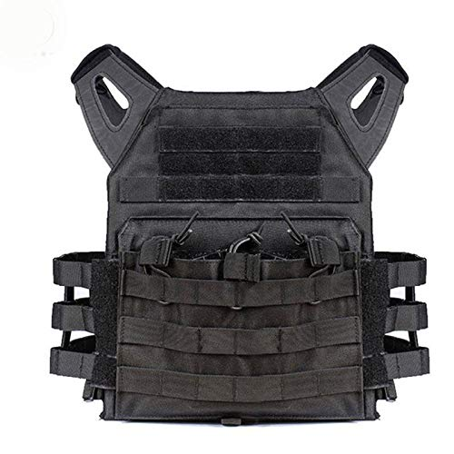 Outdoor Director Tactical Vest Body Armor Hunting Plate Carrier Ammo Chest Rig Airsoft (Color : Black)