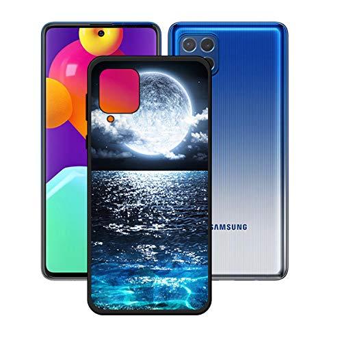 YZKJSZ Funda para Samsung Galaxy M62,Negro Carcasa Flexible Ultra Slim Soft Silicona TPU Suave Protectora Caso Case Shell Cover para Samsung Galaxy M62 (6.7') - OP46