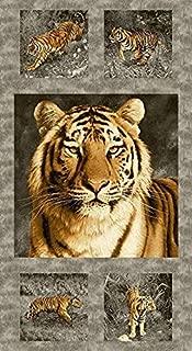 Tiger Kingdome Fabric Panel - 8696-C - 24