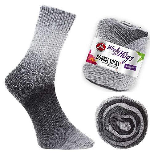 Woolly Hugs Bobbel Socks Fb. 254, zwei identische Socken stricken, 100g Sockenwolle mit Farbverlauf