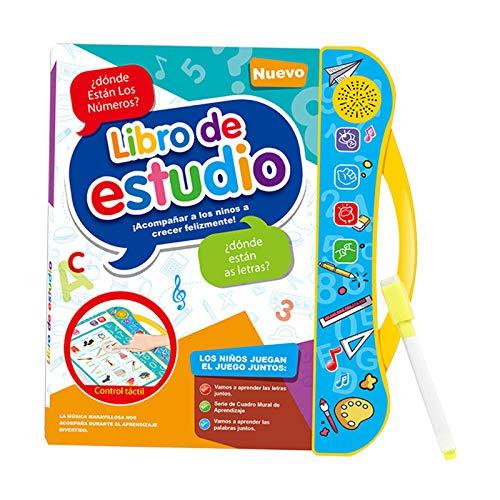 chiwanji Juguete de Máquina de Aprendizaje Educativo Temprano para Niños, Libro de Lectura en Inglés, Español