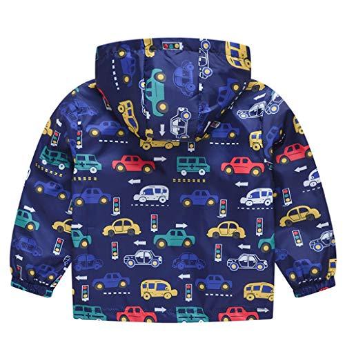 VICKY-HOHO Günstige Kinderkleidung Sommer, 2-3 Jahre Kleinkind Kinder Baby Mädchen Jungen Cartoon Katze Auto Frühling Kapuzenmantel Jacke Tops Unisex Chic Kindertag Geschenk (Blau)