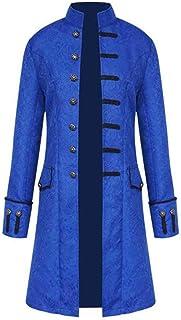 Abrigo Gotico Hombre Chaqueta Retro Steampunk Medieval Victoriano Chaquetas Larga Fiesta Traje de Cosplay Uniforme Vestido...