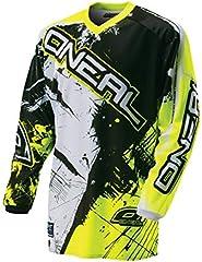 O'Neal Element Jersey Shocker Enduro Downhill 0024S-60 - Camiseta de motocross, amarilla y negra, color negro / amarillo, tamaño medium