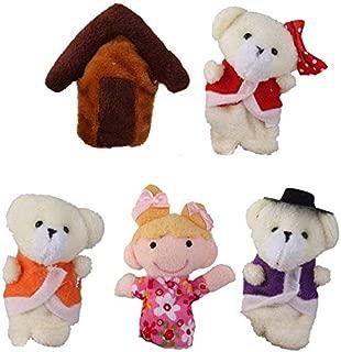 TOOGOO Lot of 5 pcs Finger Puppets Fairytale Fairy Tale Goldilocks and Three Bears