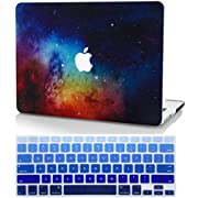 """KECC Laptop Case for MacBook Pro 16"""" (2020/2019) w/Keyboard Cover Plastic Hard Shell Case A2141 Touch Bar 2 in 1 Bundle (Navy Fabric)"""