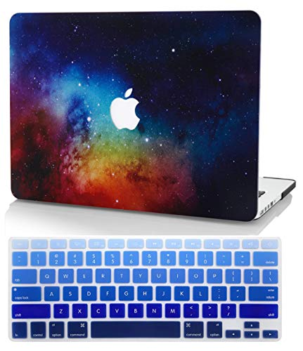 KECC Laptop Case for New MacBook Air 13' Retina (2020, Touch ID) w/ UK Keyboard Cover Plastic Hard Shell Case A2179 (Night Dream)
