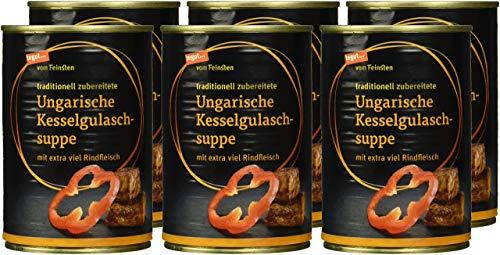 tegut... vom Feinsten Ungarische Kesselgulaschsuppe, 6er Pack (6 x 400 ml)