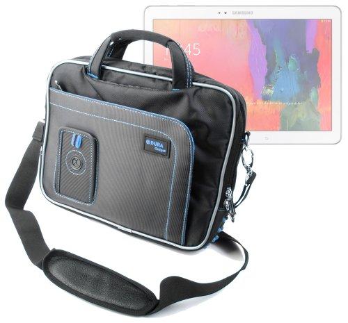DURAGADGET Sacoche Luxe de Transport Noir/Bleu résistante pour Tablette Tactile Samsung Galaxy TabPro 10.1 WiFi 3G 4G / LTE (SM-T520 & SM-T525) Android 4.4 KitKat