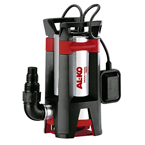 AL-KO Schmutzwassertauchpumpe Drain 15000 Inox, 1100 W Motorleistung, 15.000 l/h max. Fördermenge, 35 mm max. Korngröße, Pumpenkörper aus Inox Edelstahl