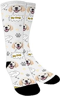 YanNanKe, Calcetines Personalizados Foto,Personalizable Calcetines, Ponga fotos de perros, gatos y otras mascotas en calcetines, divertidos regalos personalizados de calcetines faciales