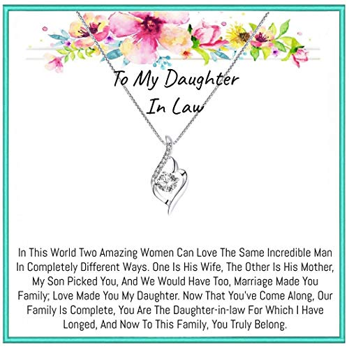 To My daughter in law Gifts necklace for birthday gift, Christmas gift, valentine days gift (Twist)