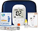O'WELL Tyson Blood Glucose Monitoring Kit | Starter Kit + 50 Refills | Tyson HT100 Meter, 50 Test Strips, 50 Lancets, Lancing Device, Control Solution, Log Book, Manual and Carry Case