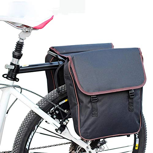 HGDM Bolsa Trasera para Bicicleta, Doble Bolsa para Rueda Trasera con Varios Bolsillos, Bolsa De Asiento Trasero De Bicicleta 12L,para Montar Al Aire Libre,Accesorios para Bicicletas
