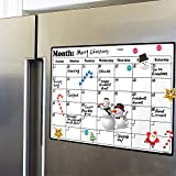 Fridge Calendar Magnetic Dry Erase Calendar Whiteboard Calendar for Refrigerator Planners 16.9 Inches X 11.8...