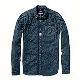 [スコッチアンドソーダ] SCOTCH&SODA メンズ 長袖シャツ Japanese Inspired Workwear Shirt 20304 B S (コード:4086213947-2)