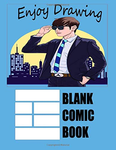 Blank Comic Book: draw your own Comics , 100 blanc comic pages , size 8.5x11