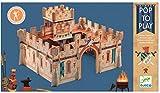 Djeco- Pop to Play Castillo Medieval Playsets de Figuras de Juguete (37714)