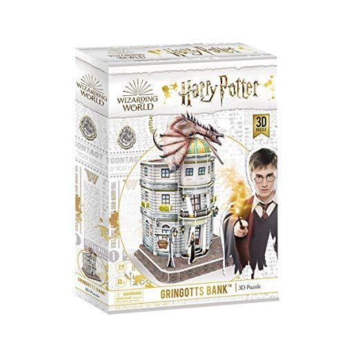 World Brands-El Banco Gringotts Harry Potter, Cubic Fun, puzle, rompecabezas, maquetas para montar, puzzles 3D, kit de construcción DS1005H