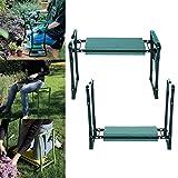 Ultrey Garten Kniebank Klappbar mit Schaumkissen Kniebänke für Gartenarbeit ca. 60 x 27 x 49cm mit Werkzeugtasche 250 lbs belastbar