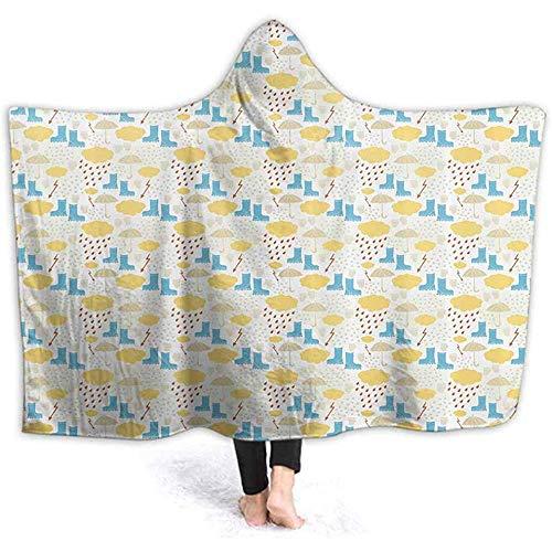 Hooded deken voor volwassenen rubberen laarzen handschoenen regen Sherpa voor dames en meisjes, warm cadeau voor familie en vriend,ed met capuchon