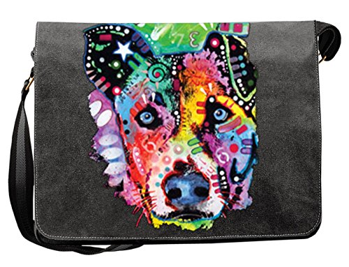 Hunde Motiv Umhängetasche für Hundehalter mit Hunde Tasche Canvas Flipped Hund Hundebesitzer Hundehalter Dog Hunde Artikel Dogs Hundefreund