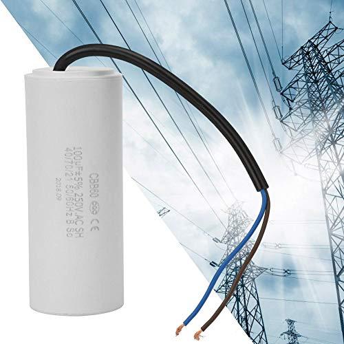 Condensador CBB60, Condensador de CA 250 V Condensador de CA 100uF Condensador 50/60 Hz Condensador de funcionamiento con cable conductor para compresor de aire
