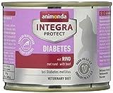 animonda Integra Protect Diabetes Katze, Diät Katzenfutter, Nassfutter bei Diabetes mellitus, mit Rind, 6 x 200 g