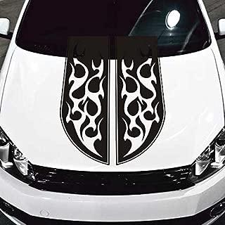 Jeepazoid SkunkMonkey - Car Hood Decal Blackout Flame Racing Sticker - Matte Black