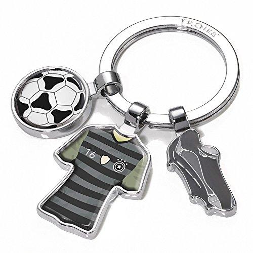 TROIKA GO Germany SCHLÜSSELHALTER Fussball - #KYR18-A169 - Motiv: GO Germany - Fußball, Trikot, Ball - Deutschlandtrikot - Schlüsselring mit Charms - das Original