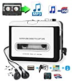 USB Cassette-to-MP3 Converter Capture, Tobo Audio Super USB Portable Cassette/Tape to PC MP3