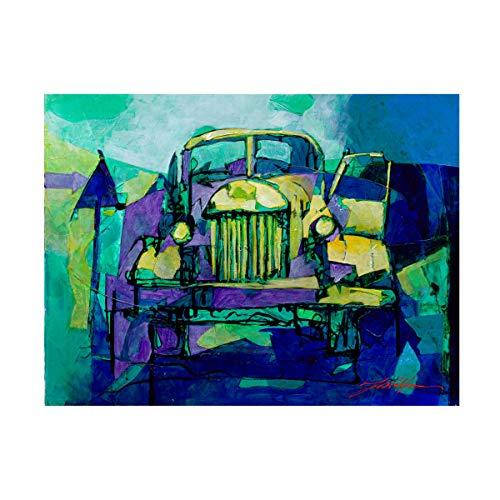 Trademark Fine Art ZIL 157 in Blue by Yuval Wolfson, 14x19, Multiple
