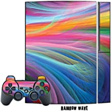 Mightyskins Protective Skin Decal Cover Sticker Compatible with Playstation 3 Console + Two PS3 Controllers - Rainbow Wave