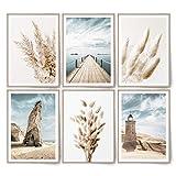 BLCKART Infinity Beige Love Beach Bilder Set Stilvolle