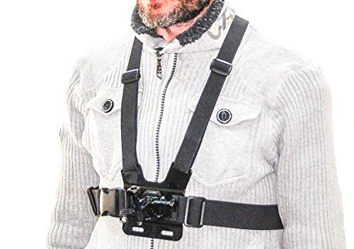 Arnés de Pecho Ajustable Deluxe PROtastic para cámaras de acción, Incluidas GoPro/SJCAM y Otras. Incluye extensión de Montaje. Talla única para Todos.