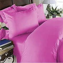 Elegant Comfort Juego de sábanas de Calidad egipcia de 1500 Hilos, 4 Piezas, con Bolsillos Profundos, Queen, Rosa Intenso