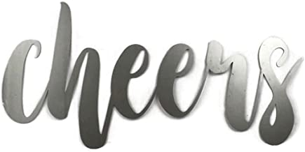 Cheers Small Size Raw Steel Unpainted Word Art