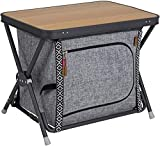 N \ A Armario plegable de tela, para camping, camping, accesorios, muebles de cocina, para exteriores, plegable, para tienda de campaña, cocina de viaje, color gris