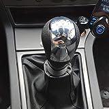 Palanca de Cambios de 6 Velocidades , Pomo Palanca de Cambios Polaina Bota Cuero para Opel Vauxhall Vectra C Vectra B Corsa Astra 2002 2003 2004 2005 (6 Velocidades)
