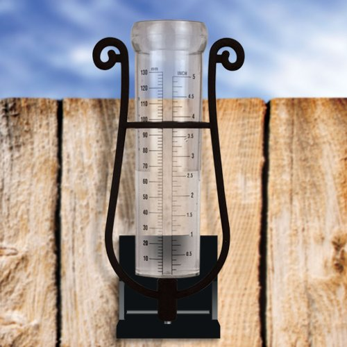Luster Leaf 1639 Rain Gauge in Decorative Bracket