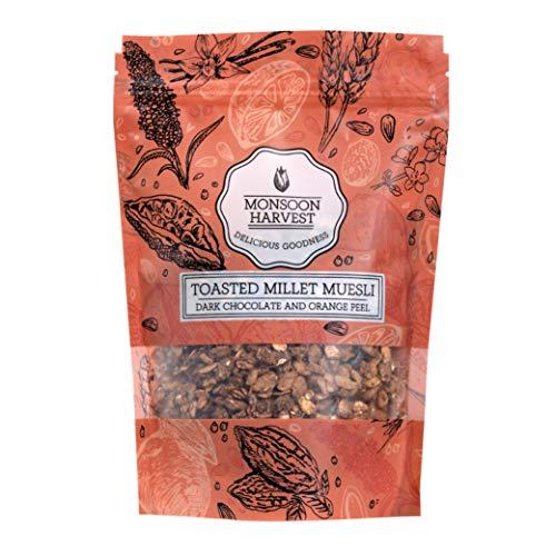Monsoon Harvest Toasted Millet Muesli, Dark Chocolate & Orange Peel, 250 g