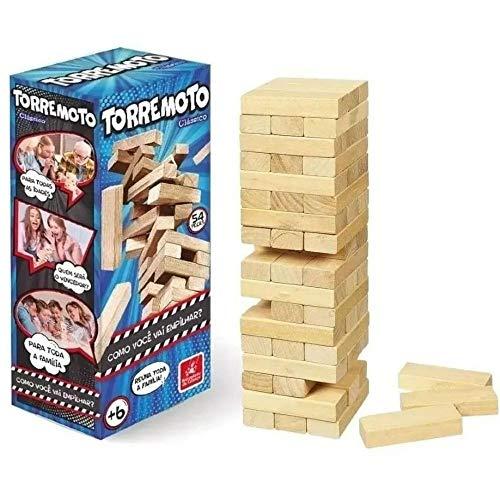 Brinquedo Torremoto, Brincadeira de Criança, 54 Peças