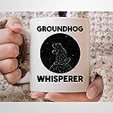 Taza de café de la marmota, para amantes de los animales, hombres y mujeres, divertido regalo de marmota, marmota de madera, 325 ml