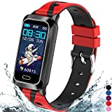 Inspiratek Kids Fitness Tracker for Girls and Boys Age 5-16 (5 Colors), Kids Activity Tracker, Fitness Watch for Kids - Fitness Tracker for Kids - Activity Tracker for Kids , Kids Step Tracker (Red)
