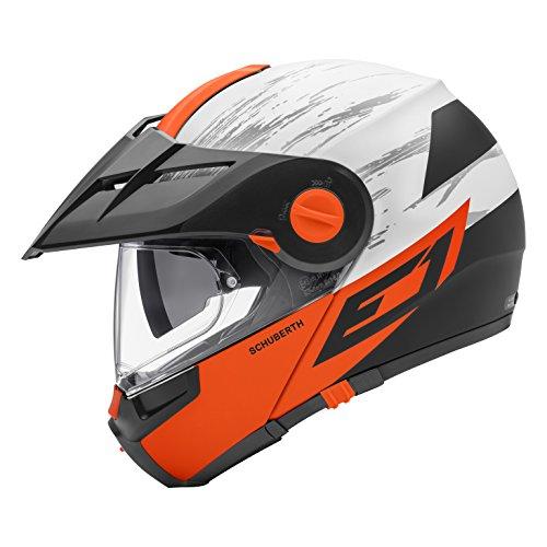 Schuberth E1Premium Flip Up aventura motocicleta casco–Crossfire naranja