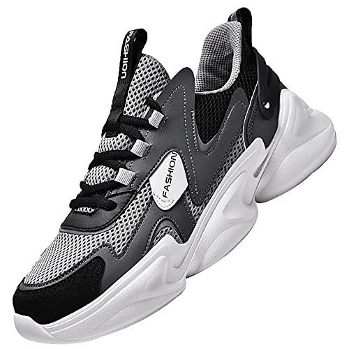Zapatilla Deportiva para Hombre,Transpirable Zapatos para Correr Gimnasio Casual Sneakers,Gray_40